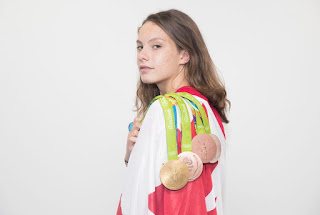 Denis Shapovalov Girlfriend Penny Oleksiak With All Her Medals