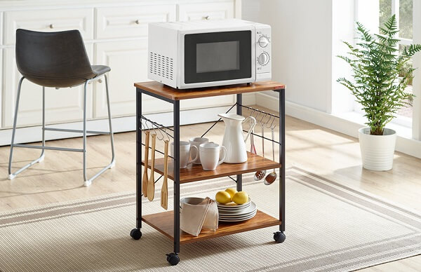 Mr IRONSTONE Kitchen Microwave Cart 3-Tier