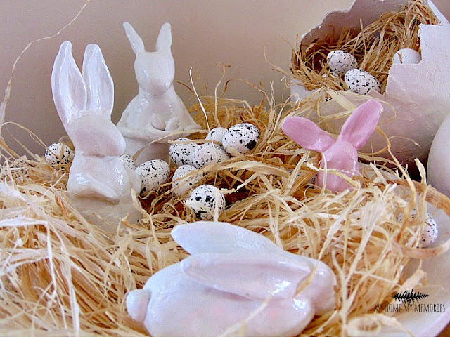 Easter-decoration-with-rabbits-and-eggs