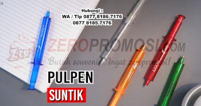 Jual Souvenir Pernikahan Pulpen Suntik Unik, Pulpen unik berbentuk suntikan, pen suntik promosi