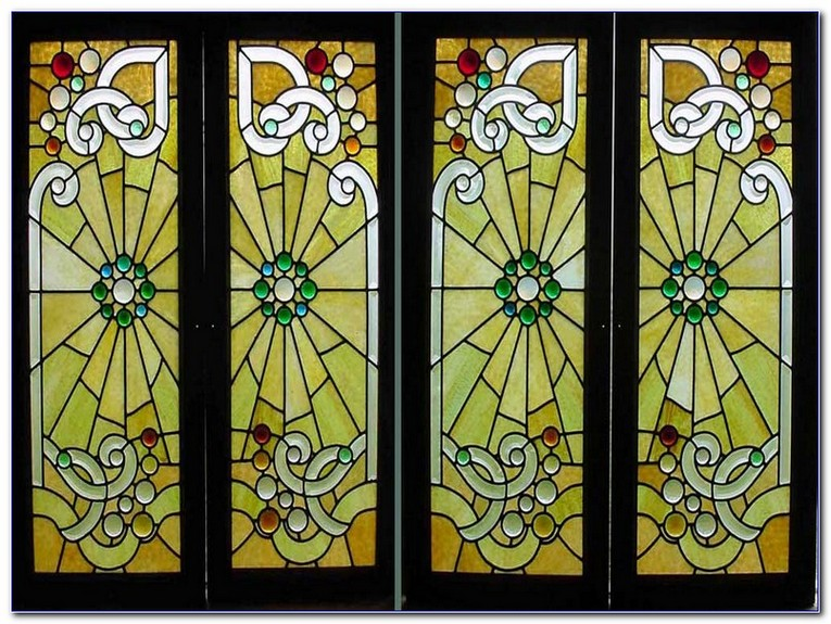Antique Stained Glass Window Patterns Home And Car Window Glass