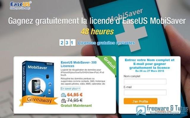 Offre promotionnelle : EaseUS MobiSaver gratuit !