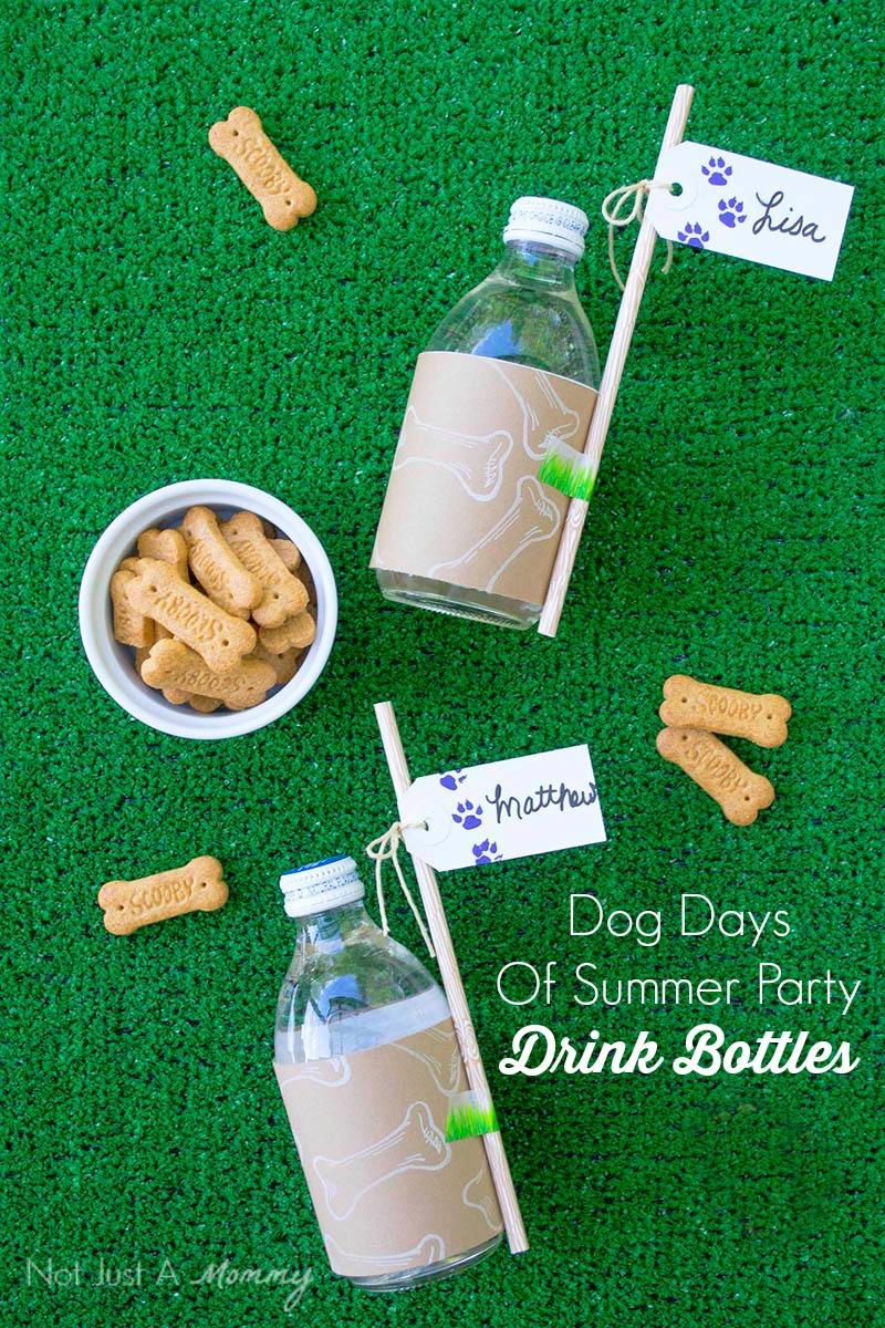 Dog Days Of Summer Party drink bottles