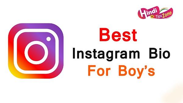 Best Instagram Bio For Boy's
