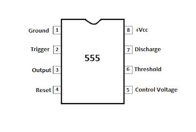 8 pin DIP 555 timer