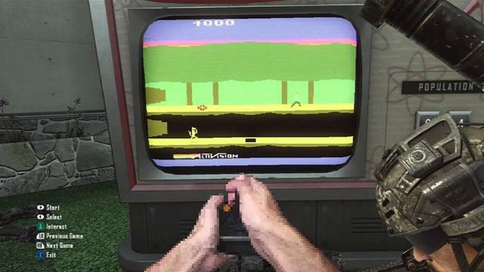Em Black Ops II você irá encontrar mais um easter egg, mas este está relacionado com o clássico videogame Atari, onde você poderá jogar alguns games como Pitfall, H.E.R.O, Kaboon! e River Raid.