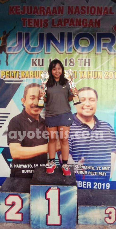 PELTI PATI OPEN 2019: Menangi Final Ideal, Diah Ayu Sabet Gelar Juara