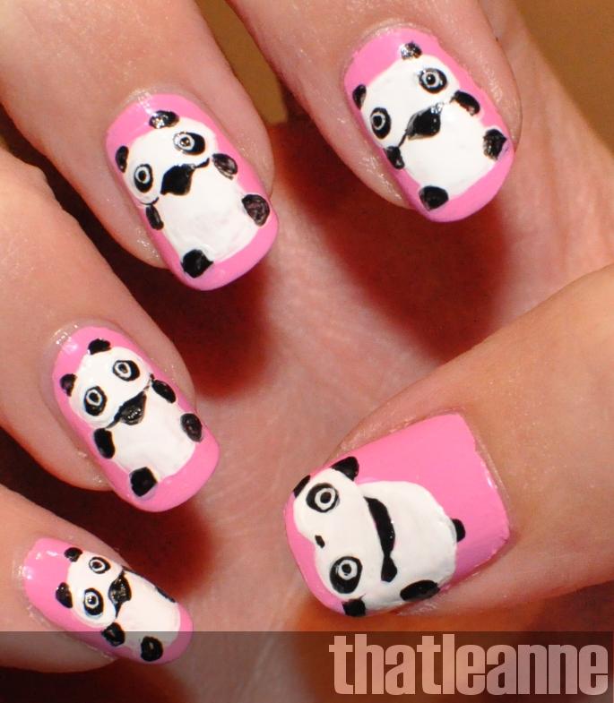 Thatleanne Chococat Nail Art: Thatleanne: Tare Panda Nail Art