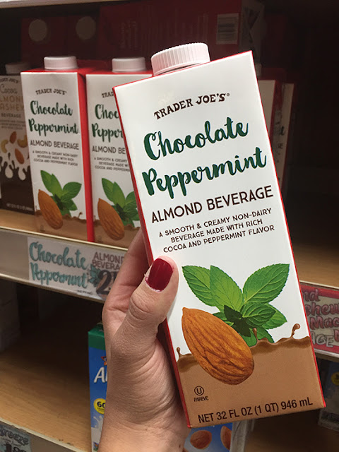 Trader Joe's Cocoa Peppermint Almond Beverage Review | Will Bake for Shoes