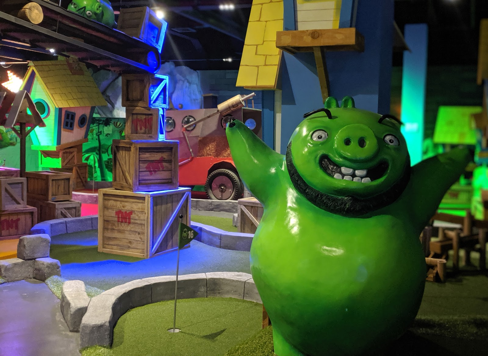 What to do when it rains in North East England   20+ places to visit with kids - Angry Birds Golf Metrocentre