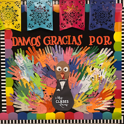 Quick Tip: Thanksgiving in Spanish Class - Thankful Turkey - Damos gracias por