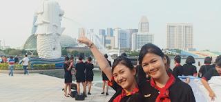 siswa pramugari pspp yogyakarta di singapura