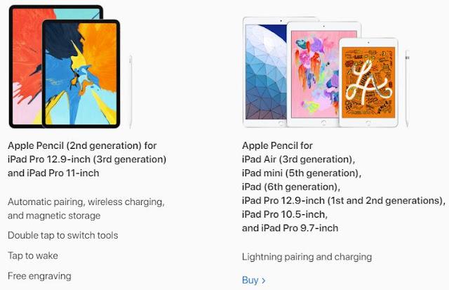 Compare Apple Pencil and Apple Pencil 2!