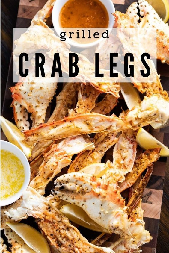 Grilled Crab Legs With Seasoned Garlic Butter