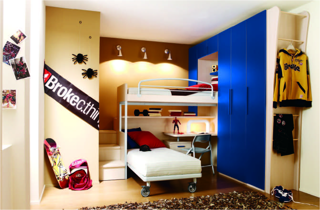 Key Interiors by Shinay: Bunk It Out for Young Boys Bedrooms on Bedroom Ideas For Teenage Guys With Small Rooms  id=20203