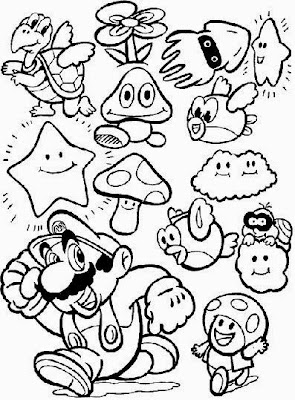mario coloring pages to print  Creative Coloring Pages