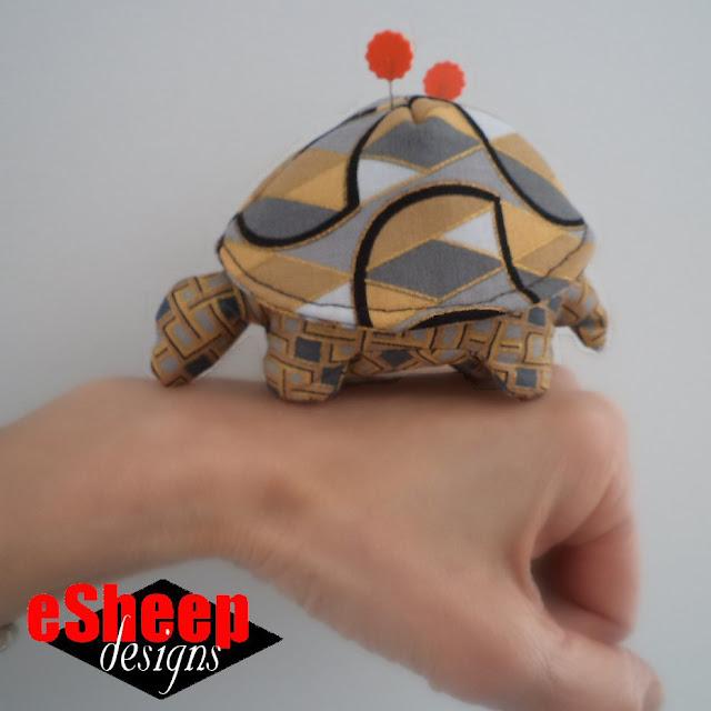 diy HandyMum Lin TV Tortoise Pincushion crafted by eSheep Designs