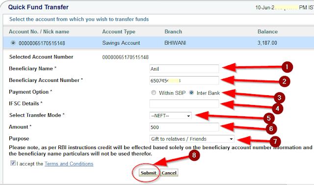 SBi Payment Kaie send karte hai online