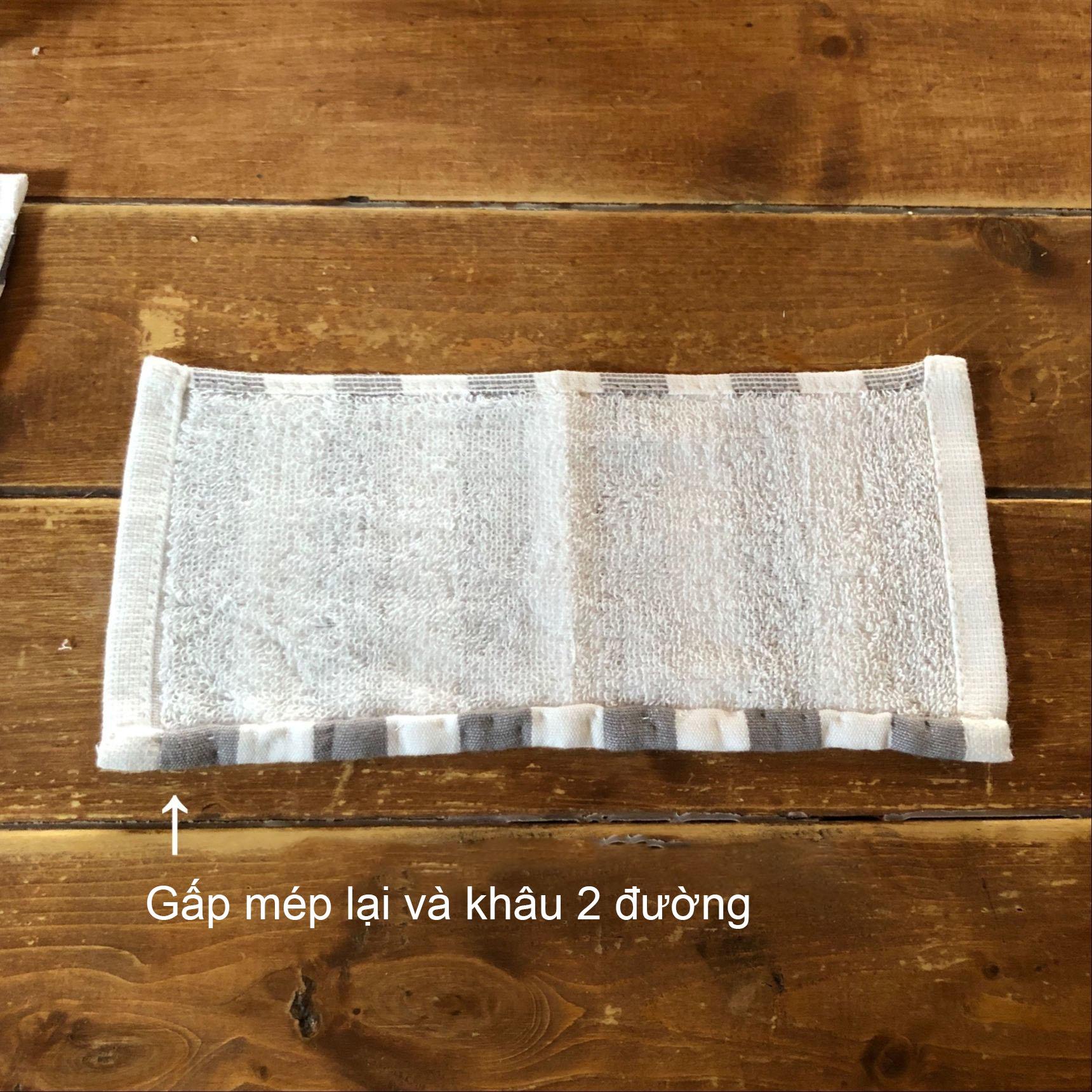 Khâu 2 đường để không bị phồng khi giặt