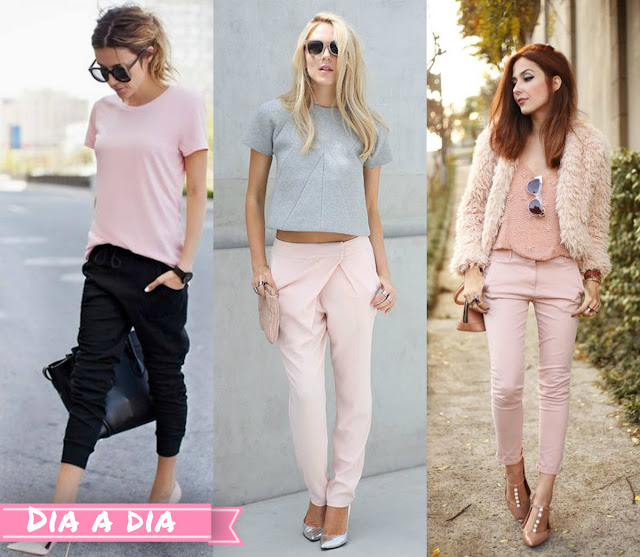 rosa quartzo na roupa do dia a dia