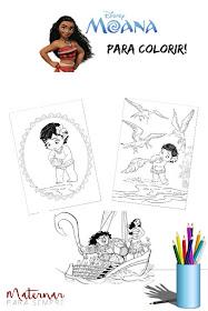 Desenhos para colorir Moana – Um Mar de Aventuras