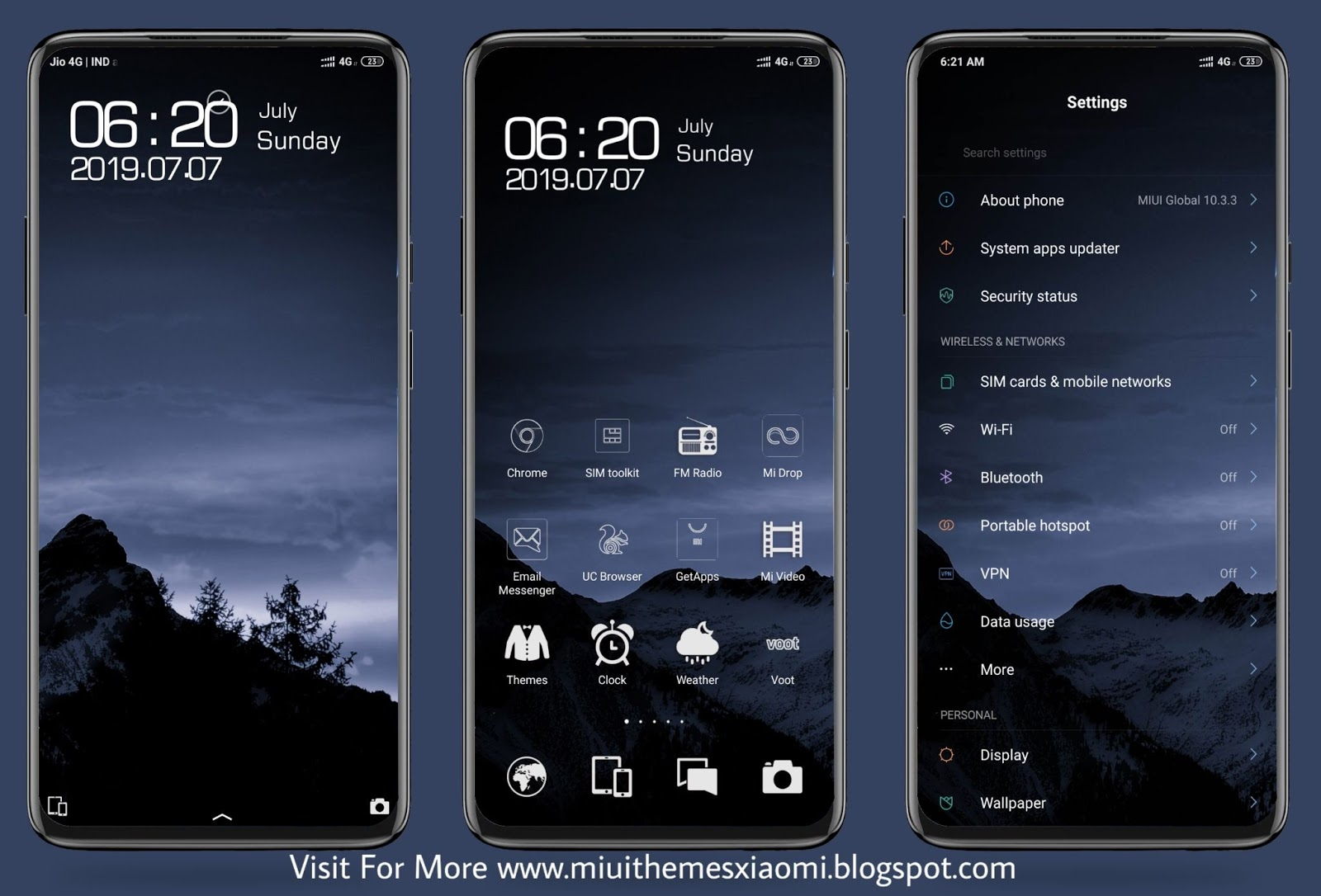 Gushan Dark MIUI Theme Download For Xiaomi Mobile || MIUI