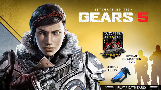 gears 5 ultimate edition pre-order bonus 30 days boost terminator dark fate character pack