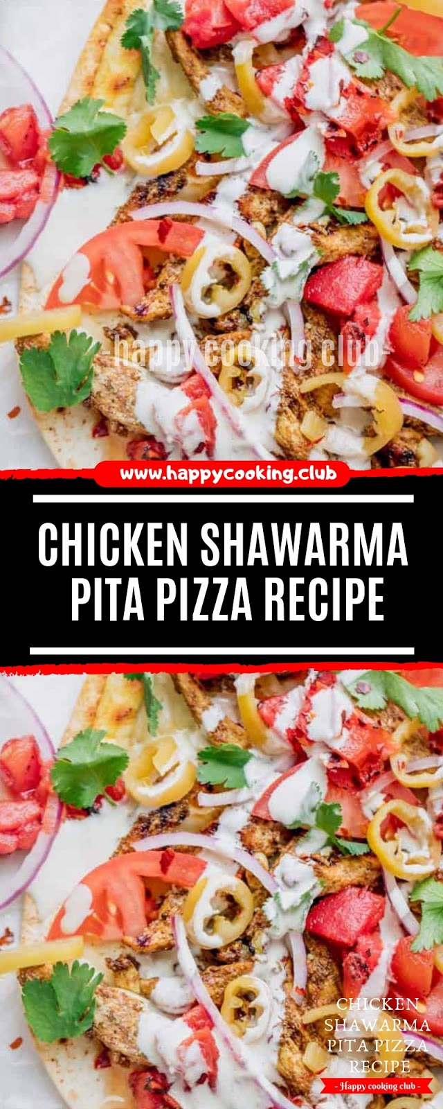 Chicken Shawarma Pita Pizza Recipe