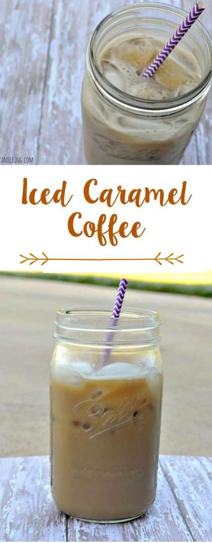 Frosted CARAMEL COFFEE #drink#coffe