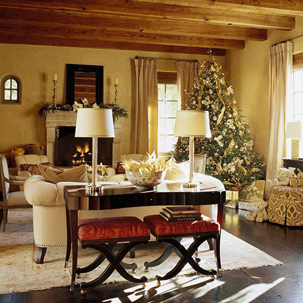 Home decoration design christmas decorations ideas - Christmas living room decor ...