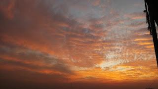 Beautiful orange sky picture