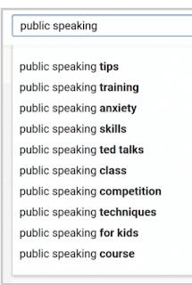 اقتراح البحث في YouTube