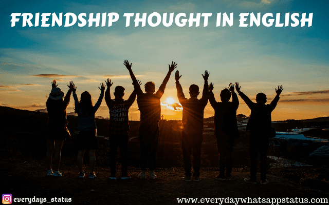Unique 10 Friendship Thought In English Images
