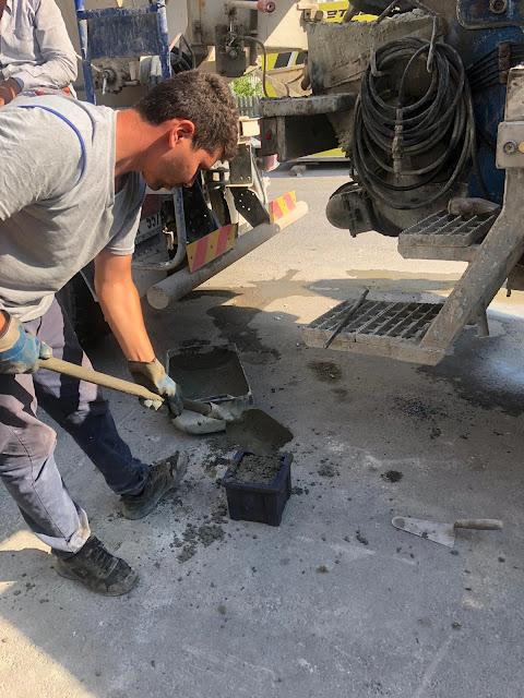 taze betondan numune alınması, beton numunesi nasıl alınır