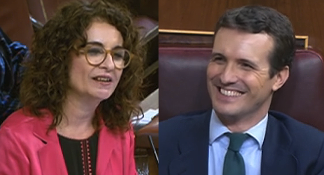 Zasca viral de la ministra María Jesús Montero a Pablo Casado