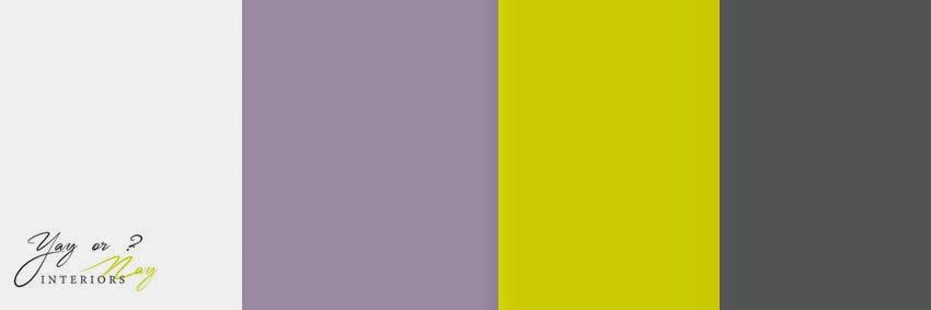 pastel purple and mustard