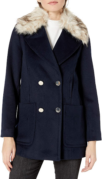 Elegant Faux Fur Collar Jackets Coats For Women
