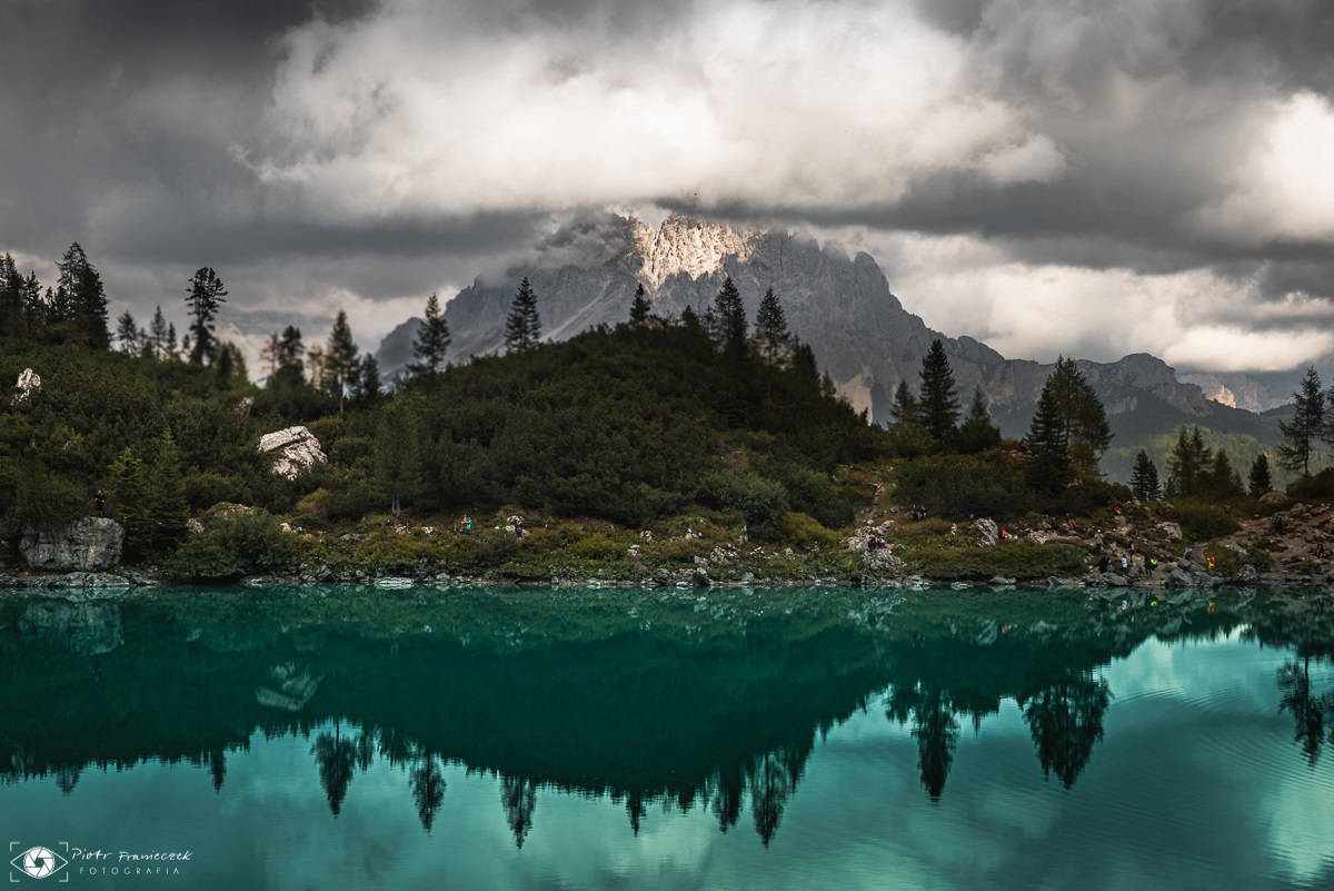 Dolomity jezioro Lago di Sorapis