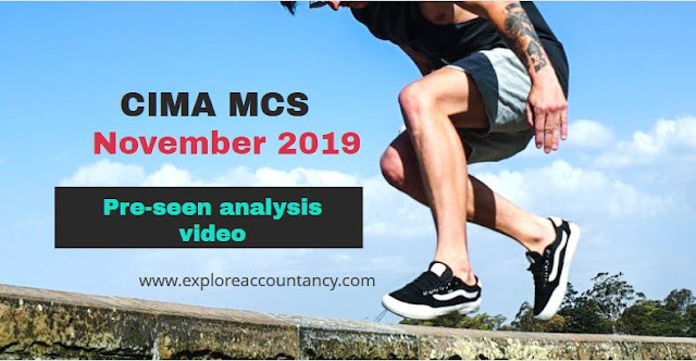 MCS November 2019 Pre-seen video analysis - GSC - CIMA Management Case Study