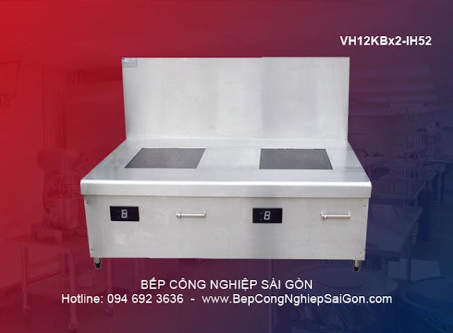 Bếp từ công nghiệp 2 lò phẳng VH12KBx2