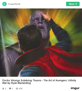 Infinity War concept art shows Doctor Strange managed to subdue Thanos