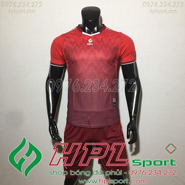 Áo ko logo Egan Cli màu đỏ