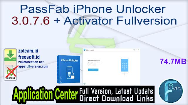PassFab iPhone Unlocker 3.0.7.6 + Activator Fullversion