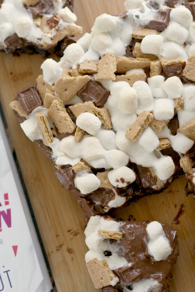 S'mores Brownies inspired by If There's No Tomorrow