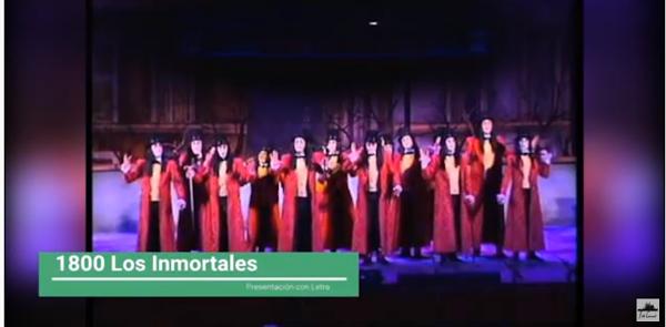 """Presentación con Letra Comparsa """"1800, Los Inmortales"""" de Jc Aragón Becerra (2004)"""