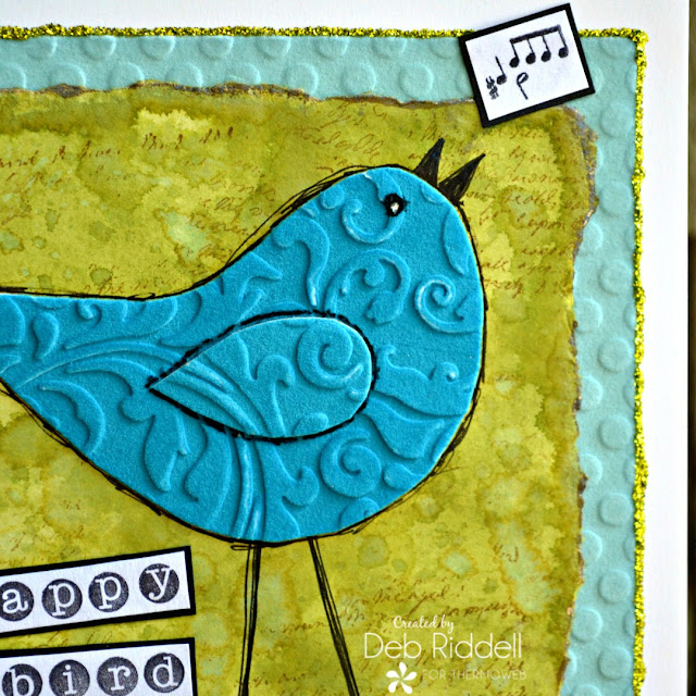 Happy Bird Day card closeup
