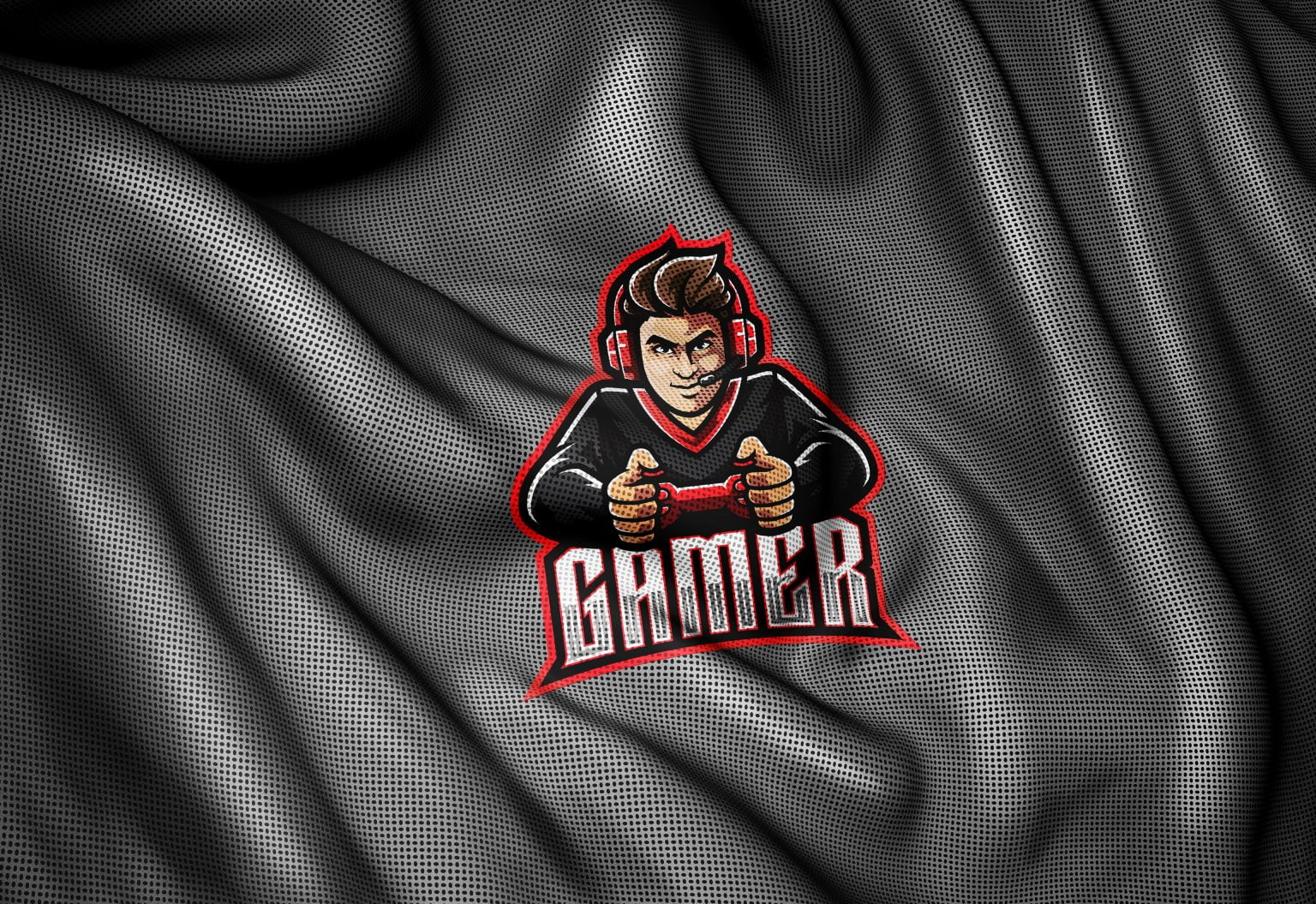 Sports Jersey Fabric Texture Photoshop Logo Mockup