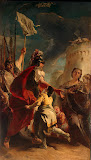 Coriolanus at the Walls of Rome by Giovanni Battista Tiepolo - History Paintings from Hermitage Museum