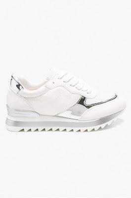 Answear - Pantofi Abloom de dama albi cu talpa gorasa si insertii argintii