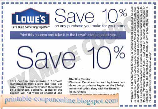 image regarding Lowes Coupon Printable called Printable Coupon codes 2019: Lowes Coupon codes